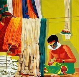 Green Room by Gayatri Artist, , , Beige color