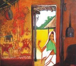 Woman by Deepankar Majumdar, , , Brown color