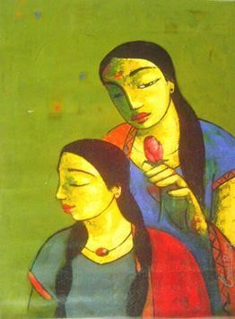 Friends 001 by Ganesh Patil, , , Green color