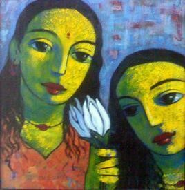 Friends 115 by Ganesh Patil, , , Green color