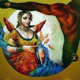 Consort-III by Saumya Bandyopadhyay, , , Brown color