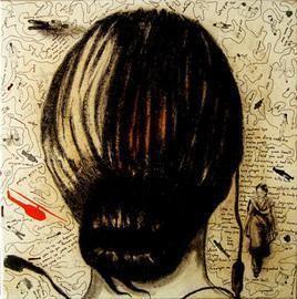 Woman Head by Samiran Dhar, , , Beige color