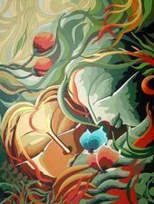 Green God XVI by Dhananjay Mukherjee, , , Beige color