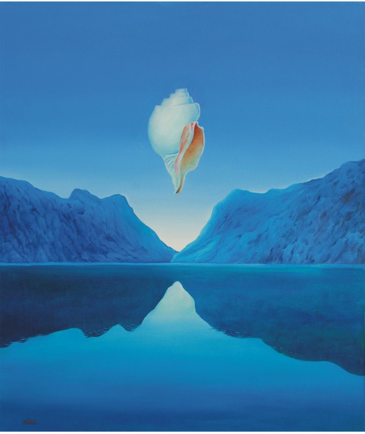 Journey 6 by Animesh Nandi, Surrealism, Surrealism Painting, Oil on Canvas, Blue color