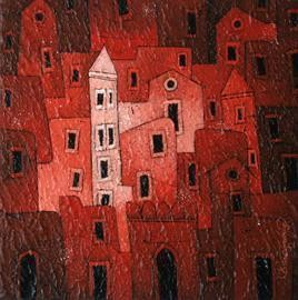 Red Village - 347 by Suresh Gulage, , , Brown color