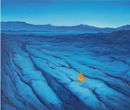 Unexpected Guest by Animesh Nandi, Surrealism, Surrealism Painting, Oil on Canvas, Blue color