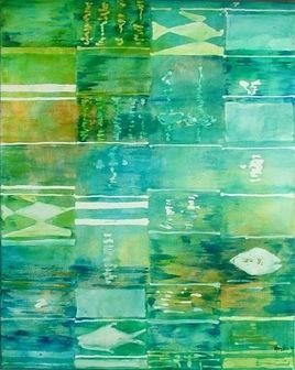 Reflection-1 by Gayatri Deshpande, , , Green color