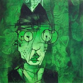My Lost of Memory by Mukesh Salvi, , , Green color