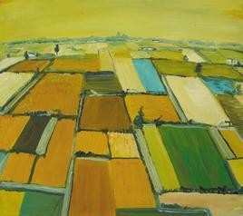 Fields with Water Chanels by Animesh Roy, , , Green color