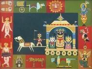 Chariot Festival by Bhaskar Lahiri, , , Brown color