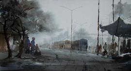 Foggy Morning by Jiaur Rahman, , , Gray color