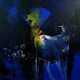 Dream Way by Pradip Sengupta, , , Blue color
