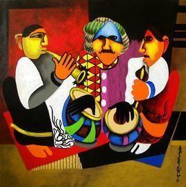 Untitled by Anand Dharmadhikari, , , Brown color