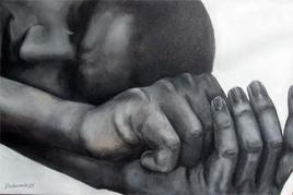 Begging in Sleeping Mode by Durba Nanda, , , Gray color