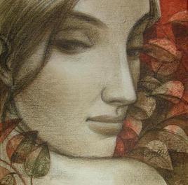 Expression by Sukanta Das, , , Brown color