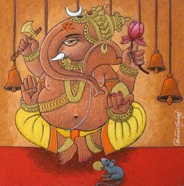 Ganesha - 2 by Suresh Gulage, , , Brown color