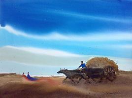 Storm by Jiaur Rahman, , , Cyan color