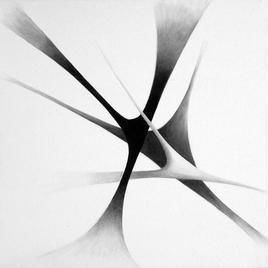 An Eagle In Flight by Deviba Wala, Minimalism, Minimalism Painting, Acrylic on Canvas, Gray color