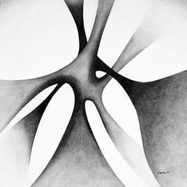 Shadow by Deviba Wala, Minimalism, Minimalism Painting, Acrylic on Canvas, Gray color