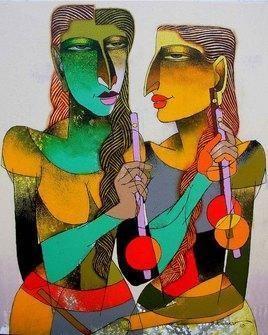 Violin Sellers-43 by Dayanand Kamakar, , , Brown color