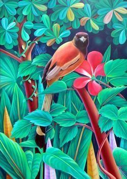 Bird Series by Murali Nagapuzha, , , Cyan color