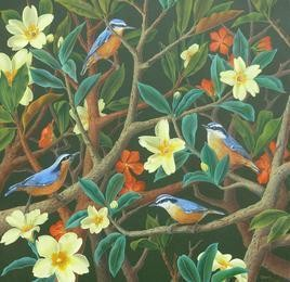 The Nuthatches by Vani Chawla, , , Green color