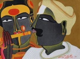 Couple by Thota Vaikuntam, , , Brown color
