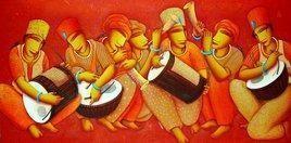 Festival by Samir Sarkar, , , Red color