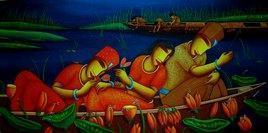 Love by Samir Sarkar, , , Blue color