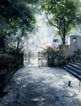 Morning-Melody by Ranabir Saha, , , Green color