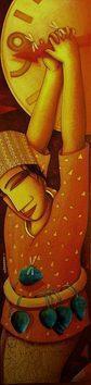 Break The Time by Samir Sarkar, , , Brown color