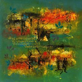 Spiritual Configuration by Raju Durshettiwar, , , Green color