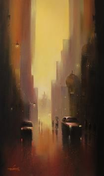 Cityscape by Somnath Bothe, , , Brown color