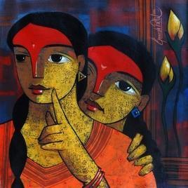 Untitled by Ganesh Patil, , , Brown color