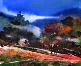Vibrations Of Spring-I by Bheem Malhotra, , , Blue color
