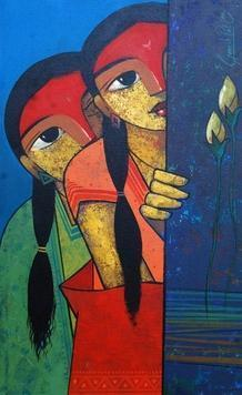 Friends 111 by Ganesh Patil, , , Blue color
