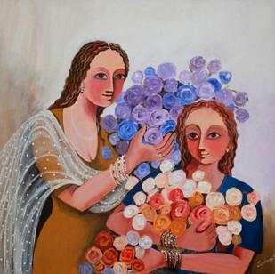 Florist by Jayshree P Malimath, , , Brown color