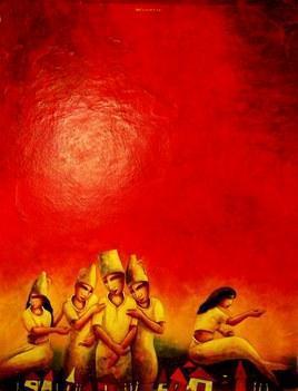 Love 3 by Samir Sarkar, , , Red color