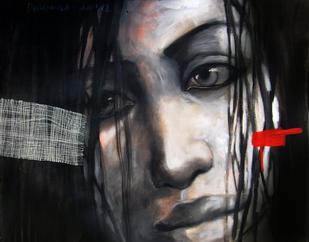 Face by Durba Nanda, , , Gray color