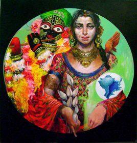 Untitled - 2 by Saumya Bandyopadhyay, , , Brown color