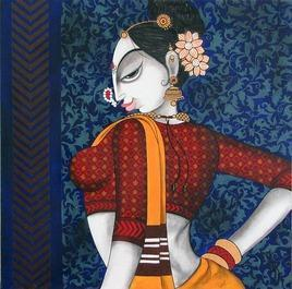 Glory Beauty - 2 by Varsha Kharatmal, , , Blue color