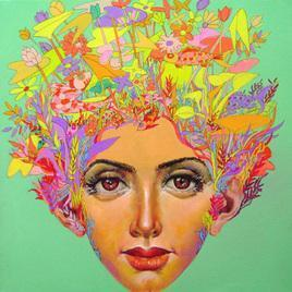 Untitled - 3 by Saumya Bandyopadhyay, , , Green color