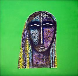 Face by Arun K Mishra, , , Green color