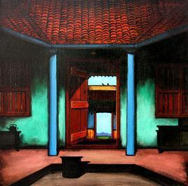 Door by K R Santhanakrishnan, , , Brown color