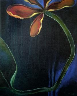 Nature of Life 3 by Dipankar Pal, Painting, Acrylic on Canvas, Blue color