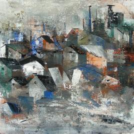 Modern Village by M Singh, , , Gray color