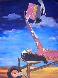 Social Ties-III by Ranjan Kumar Mallik, Painting, Acrylic on Canvas, Blue color
