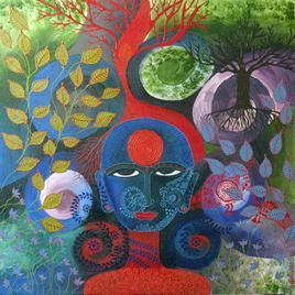 Willow Bride by Pragati Sharma Mohanty, , , Green color