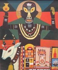 Holy Man by Bhaskar Lahiri, , , Brown color
