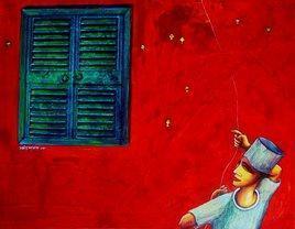 Flying by Samir Sarkar, , , Red color
